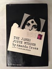 Amanda Cross - SIGNED The James Joyce Murder - 1st/1st Macmillan in DW - Rare
