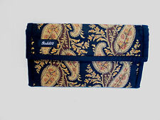 REDD 10  BROWN, GOLD AND BLACK, PAISLEY PATTERN WALLET