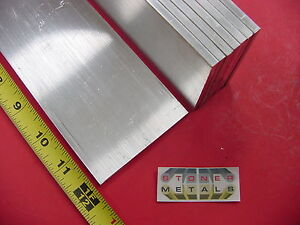 "8 Pieces 3/16"" X 3"" ALUMINUM 6061 FLAT BAR 12"" long T6511 New Mill Stock"