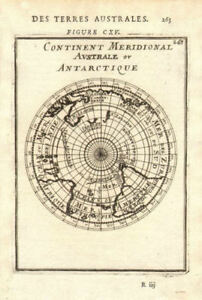 SOUTHERN HEMISPHERE Australia/New Holland incomplete unknown. MALLET 1683 map