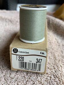 4 Spools Coats & Clark Button Craft Thread 75y. Light Green Okra ART220 YN347