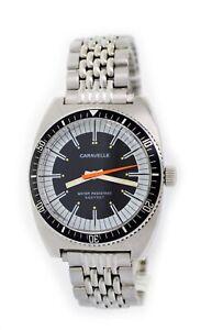 Vintage Caravelle Sea Hunter 666 Devil Diver 36.5mm Steel Mechanical Watch