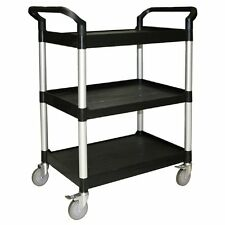 BUS CARTS BLACK & GREY MADE FOR CLEAN UP, TRANSPORT BINS WITH CASTERS T4019G