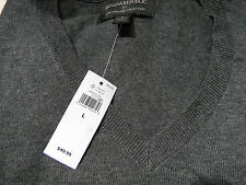 New with Tags BANANA REPUBLIC Cotton Blend V-Neck Sweater Grey Size L $49.99