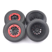 4PCS 105mm Tire Wheel 12mm Hex For 1:10 TRAXXAS SlASH RC Short Course Car Truck