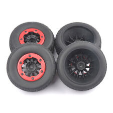 4PCS 105mm Tire Wheel 12mm Hex For 1:10 TRAXXAS SlASH RC Short Course Car Truck