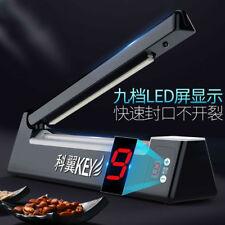 Digital LED Impulse Plastic Bag Heat Sealer Tabletop Sealing Machine 200mm 220V