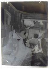 Négatif Verre - 13 x 18 cm - Crash - Accident - Voiture Schneider -