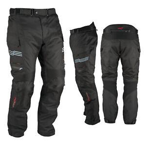 Motorcycle Trousers Waterproof Motorbike Textile Thermal Black Size 34