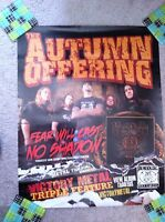 THE AUTUMN OFFERING Fear Will Cast No Shadow Promotional POSTER VINTAGE RARE
