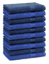 Betz 10 Seiftücher Seiflappen Seiftuch Waschlappen Premium 30x30 blau