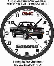 novelty trucks wall clocks ebay Lifted Chevy K10 Short Bed Truck 1991 gmc sonoma 4x4 pickup truck wall clock free usa ship