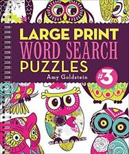 Large Print Word Search Puzzles: 3 by Amy Goldstein | Spiral-bound Book | 978145