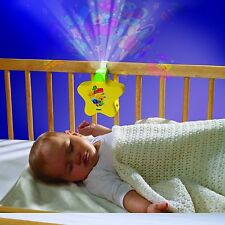TOMY First Years Starlight Dreamshow Baby Cot Nightlight with Lullabies YELLOW