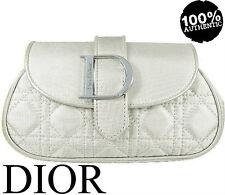 100% Autentico Couture di Dior Addict Beauty Makeup Viaggio Pochette Borsa Custodia Argento