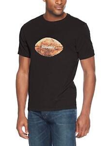 Life Is Good Mens Smooth T Shirt Vintage Football Large Black