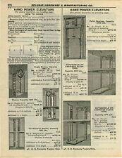1932 PAPER AD Hand Powered Dumb Waiter Elevator Car Auto Automobile