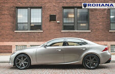19x8.5 19x9.5 +40 Rohana RC7 5x114 Graphite Wheel Fit Lexus Is350 2015 Staggered