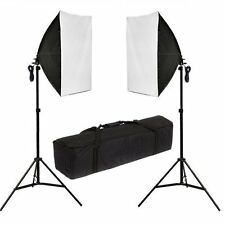 Fotografía Studio 2x135w caja suave Iluminación Continua Softbox Luz Stand Kit