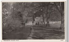 Hampshire; Winchester, College Walk RP PPC c 1950's By Photochrom