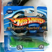 001*MINT=SEALED*HOT*WHEELS**70*PLYMOUTH*SUPERBIRD*2005*SEALED*GREEN*1:38*