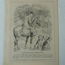 "punch cartoon 7x10"" 1930 CONSCIENTIOUS OBJECTORS ramsay macdodnald , hunting dog"