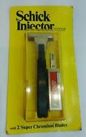 Vintage 1974 Schick Injector Safety Razor  USA  with 2 Super Chromium Blades