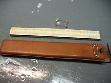 KEUFFEL & ESSER  MANNHEIM  SLIDE RULE   4041 w/ SHEATH