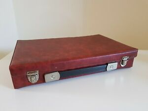 Vintage Amiet 200 Slide Tray Box - 35mm Projector Slide Storage refFRE red case