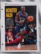 Jamal Mashburn Dallas Mavericks Champions & Record Holders Sports Heroes Sheet