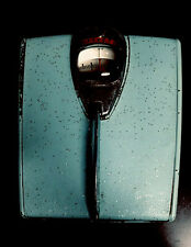 Vintage Detecto Bathroom Scale Antique Retro Aqua Blue Sparkle Magnifying Glass