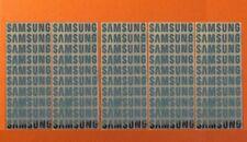 50 pcs SAMSUNG Sticker Logo Label Aufkleber Badge 30mm x 6mm Chrome color