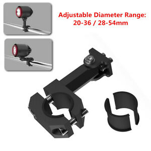 20-36/28-54MM Motorcycle Handle LED Light TurnSignal Rotating Pipe Clamp Bracket