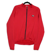 Pearl Izumi Mens Small Long Sleeve Fleece Lined Red Cycling Jersey Thermal