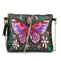 DIY Butterfly Special Shaped Diamond Painting Leather Chain Crossbody Bags N#S7