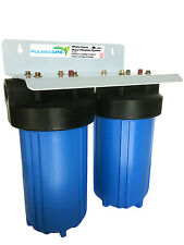"""Aquatic Life 2-Stage Whole House Water Filtration System 4.5"""" x 10"""" (540467)"""