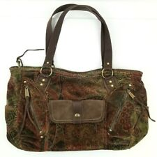 Fossil Handbag Floral Tapestry Corduroy Big Tote Women's