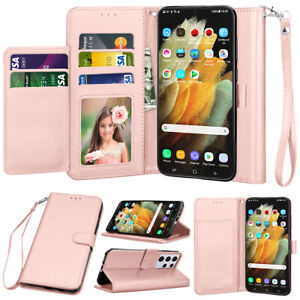 For Samsung Galaxy S21/S21+/S21 Ultra Wallet Case Flip Leather Stand Card Cover