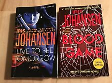 Lot of 2 Iris Johansen Mysteries-Blood Game, Live to see Tomorrow