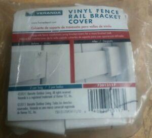 Veranda Vinyl Fence Rail Bracket Cover- 73013117 - New