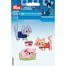 Prym Iron On Patch Set 4 Cat Theme Quality Motif Trimming Easy Application PR6