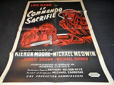 LE COMMANDO SACRIFIE   affiche cinema 1957