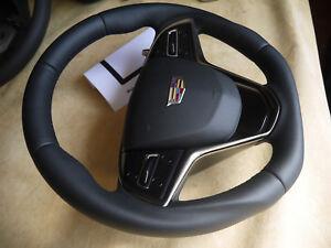 Cadillac custom steering wheel flat bottom thick PADDLE ATS ELR XTS ESV CTS V
