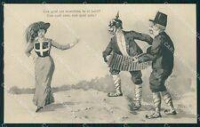 Militari Propaganda WWI Bersaglieri Kaiser Meschini cartolina XF1026