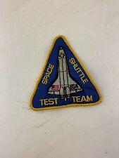 Original Vintage Space Shuttle Test Team Patch NASA, Huntsville, Alabama, AL