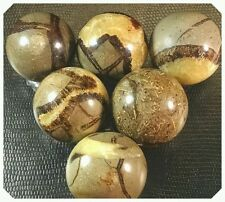 80-90g Septarian Sphere Dragon stone Crystal (2pcs w clear stands)