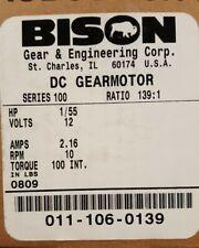 Bison Gear DC Gearmotor 011-106-0139
