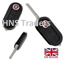 NEW for Fiat 500 Panda Punto Bravo 3 Button Remote Flip Key Fob Case  /logo A45