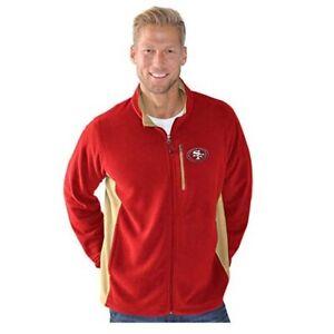 San Francisco 49ers G-III Sports Men's Replay Full Zip Micro Fleece Jacket- Red