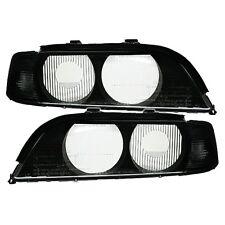 2 GLACES PHARES FEUX SANS XENON CLIGNOTANTS NOIR BMW SERIE 5 E39 BERLINE